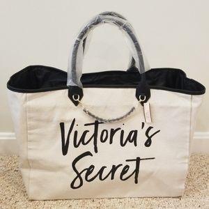 NWT! Victoria's Secret Canvas spacious open tote